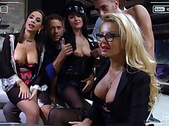 Sultry and horny MILFs get their love holes pounded on touching hot compilation