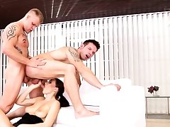 Bisexual friends in threesome with Tina Kay