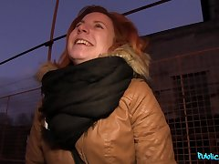 Idiotic outdoor fucking d�bris in the matter of a facial for redhead Ryta Wali