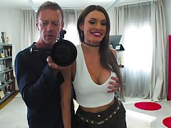 Marvelous busty whore Kitana Lure is brutally fucked doggy style