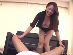 Hot pest Kuromiya Eimi gives head with an increment of rides his horseshit like a pro