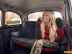 Shocking taxi fuck for hot blonde goddess Jennifer Amilton