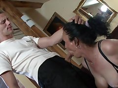 Horny granny Marianna is having filthy sex with young student