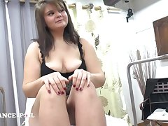 Alluring Young Plumper Sombre Hair Fisted Hard Mating
