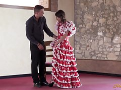 Hot flamenco dancer Ena Sweet is fucked by hot blooded partner