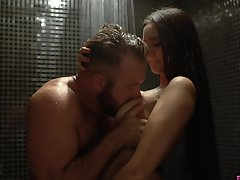 Seductive babe Eliza Ibarra seduces sister's husband in the shower