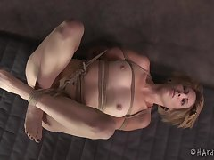Dominant malicious person tied up a yellowish real tight with Kay Kardia
