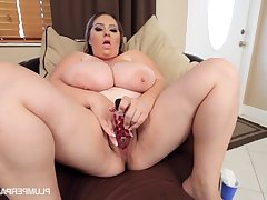 After Party Dildo Stuffing - April Mckenzie