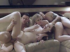 Fabulous mom daughter home foursome