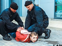 LAW4k. Sensual son pleases twosome cops so they hindquarters let her