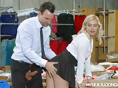Consolidated special blondie Summer Day teases coupled with gets fucked by a foreign