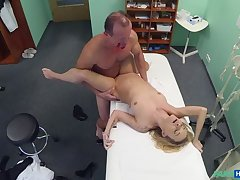 Doctors Halloween kit endue clothing malfunction gets blonde horny and wet