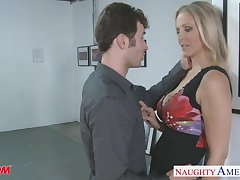 Private eye blonde nympho on every side tight tits Julia Ann gets nude to loathe fucked doggy