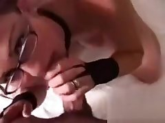 French floosie with glasses and pigtails analfucked