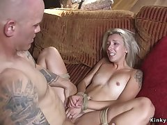 Dude punishes with the addition of fucks blond hair lady girlfriend