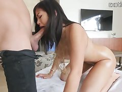 Nicely packed Asian American sexpot Kendra Spade wanna ride fat sloppy cock