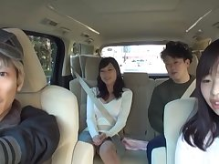 Amateur Japanese fucked on the back seat