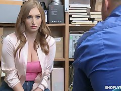 Torrid and slutty guilty bitch Skylar Snow lures constable and gets fucked hard