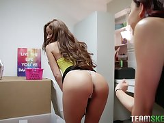 Alterable and turned on lesbian Vanna Bardot is ready to use strapon
