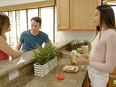 Downhearted stepsister Avi Adulate seduces her stepbrother and enjoys his meaty cock