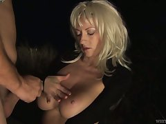 Full na�ve juggy wife Threshold W is fucked by stranger in front of cuckold husband