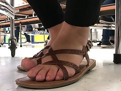 Candid feet in class 11