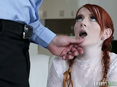 Torrid redhead Krystal Orchid rides dick and enjoys some mish