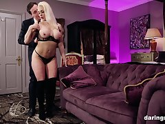 Classy blonde MILF babe Victoria Summers pounded doggy style hardcore