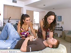Atmosphere awesome slutty Kristina Rose shares played dick for outr� MFF
