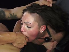 Brutal dude drills mouth and pussy of tied respecting hooker Rachael Madori