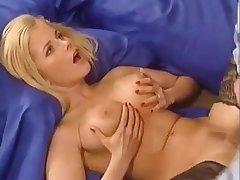 Horny German Blonde Fucks The brush Man To hand Abode