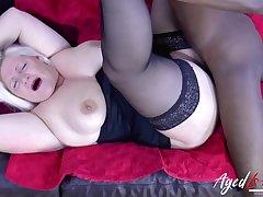 BBC boning granny in her slick vapid pussy