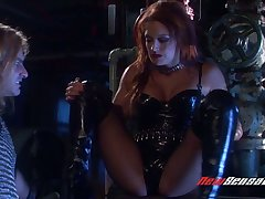 Downcast vampire Karina Kay hooks up with brutal dude who bangs her cunt without mercy