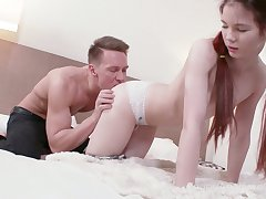 Too spoiled and joining pale botch Loventa is made for some rough doggy anal