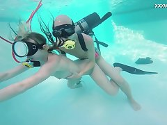 Lustful chick Monica is fucked by hot blooded diving instructor